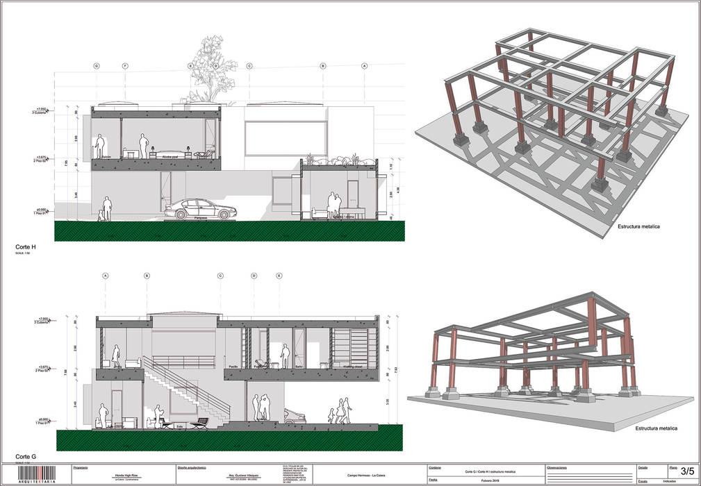 Arquitectura BIM: Espacios comerciales de estilo  por arquitektaria