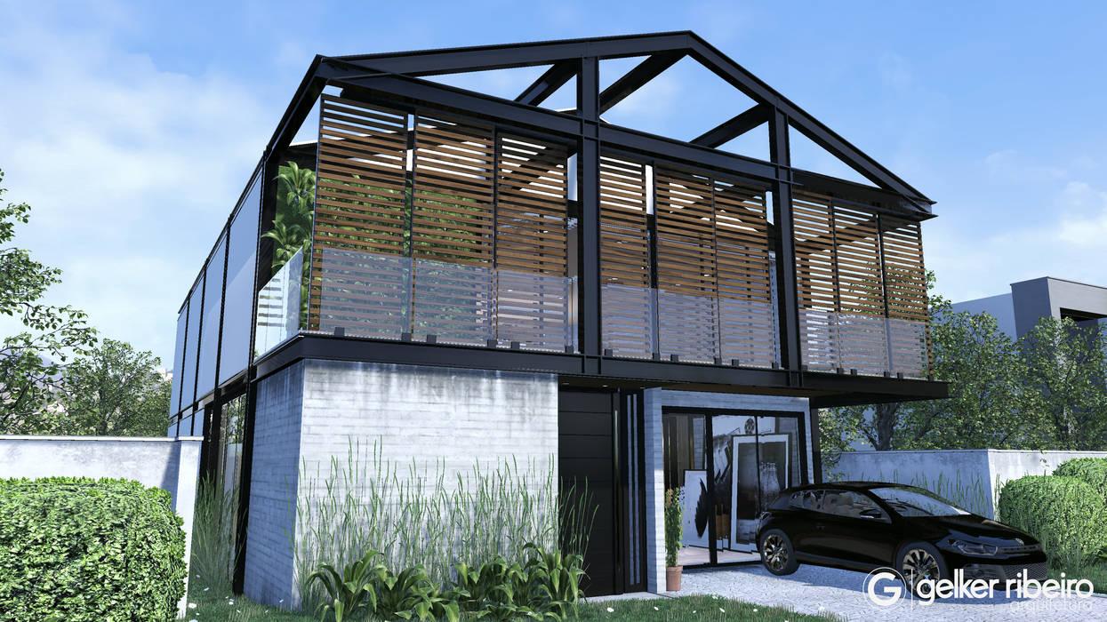 Casa Condominio Estrutura Metálica por Gelker Ribeiro Arquitetura | Arquiteto Rio de Janeiro Industrial Concreto