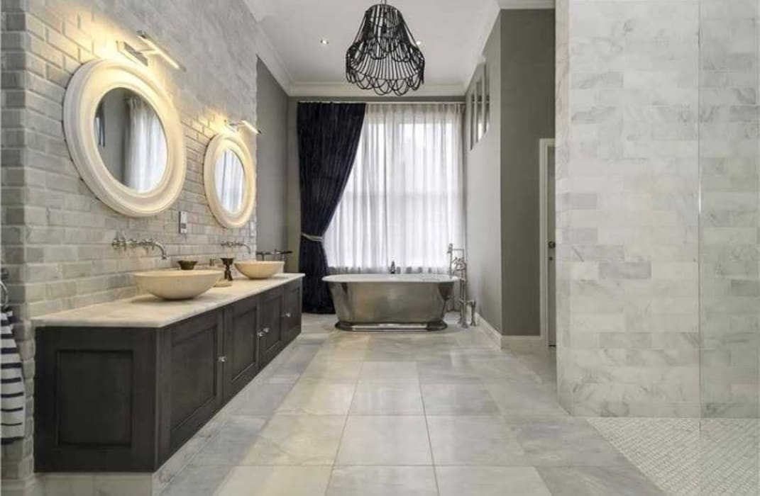 Maida Vale Townhouse Whitehouse Interiors BathroomTextiles & accessories