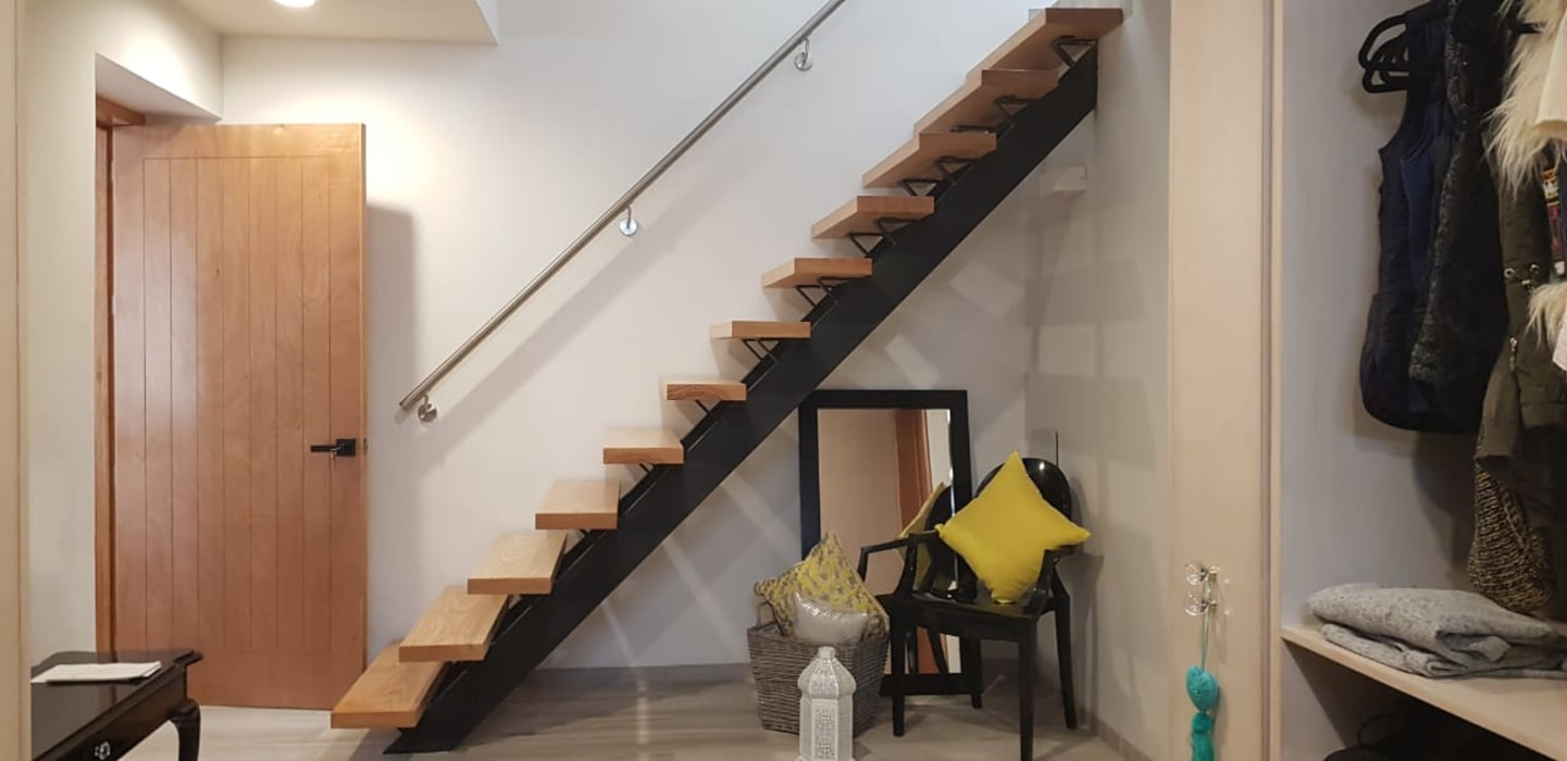 Stairs by RIVERA ARQUITECTOS, Eclectic Wood Wood effect