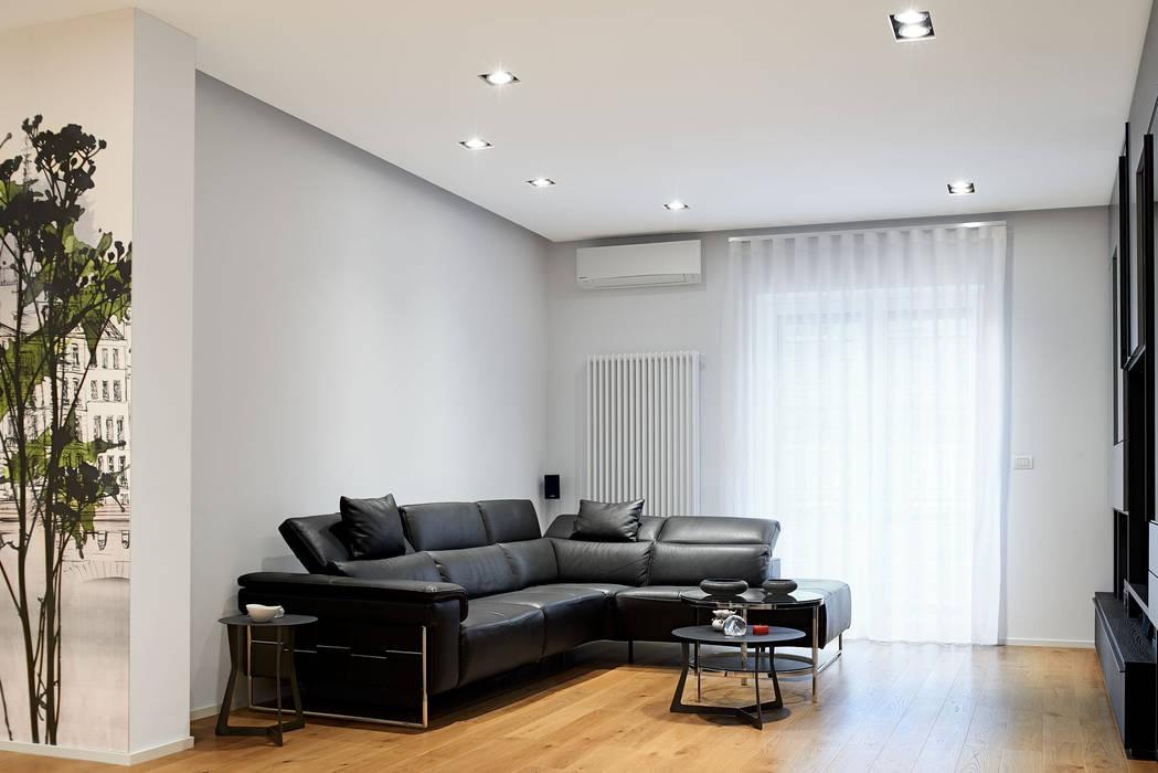 Fed House Soggiorno in stile industriale di Architetto Valentina Longo Industrial