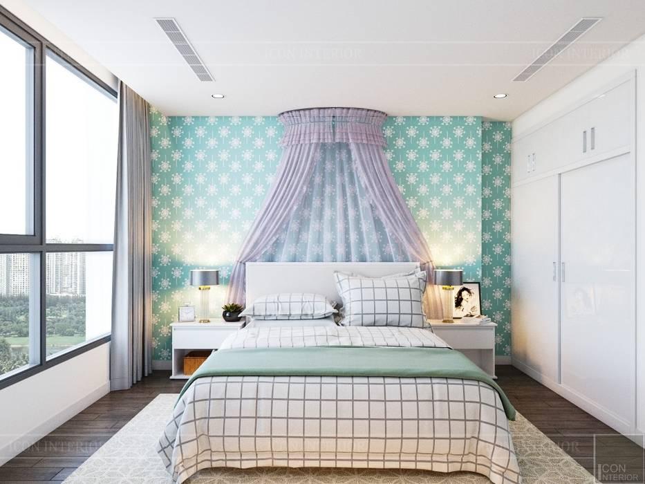 Thiết kế nội thất hiện đại tại căn hộ Landmark 4 - Khu đô thị Vinhomes Central Park Phòng trẻ em phong cách hiện đại bởi ICON INTERIOR Hiện đại