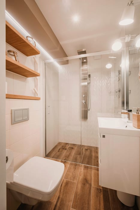 Mała łazienka W Stylu Skandynawskim Styl W Kategorii