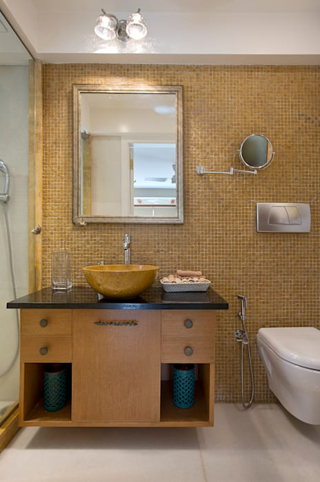 4BHK, Malabar Hill :  Bathroom by Finelines Designers Private Limited,Asian