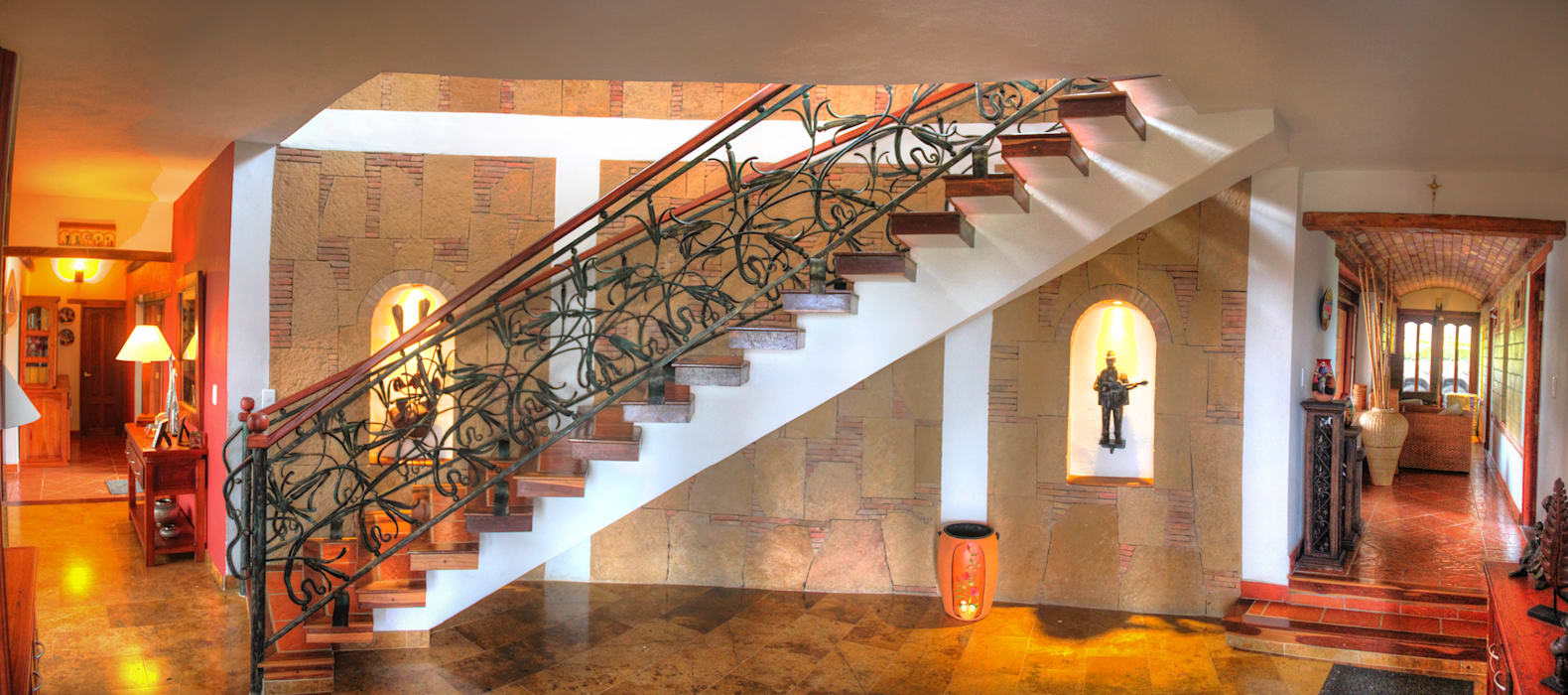 escalera y baranda en forja de cesar sierra daza Arquitecto Rústico Piedra