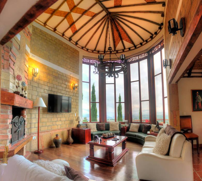 Living room by cesar sierra daza Arquitecto, Rustic Ceramic