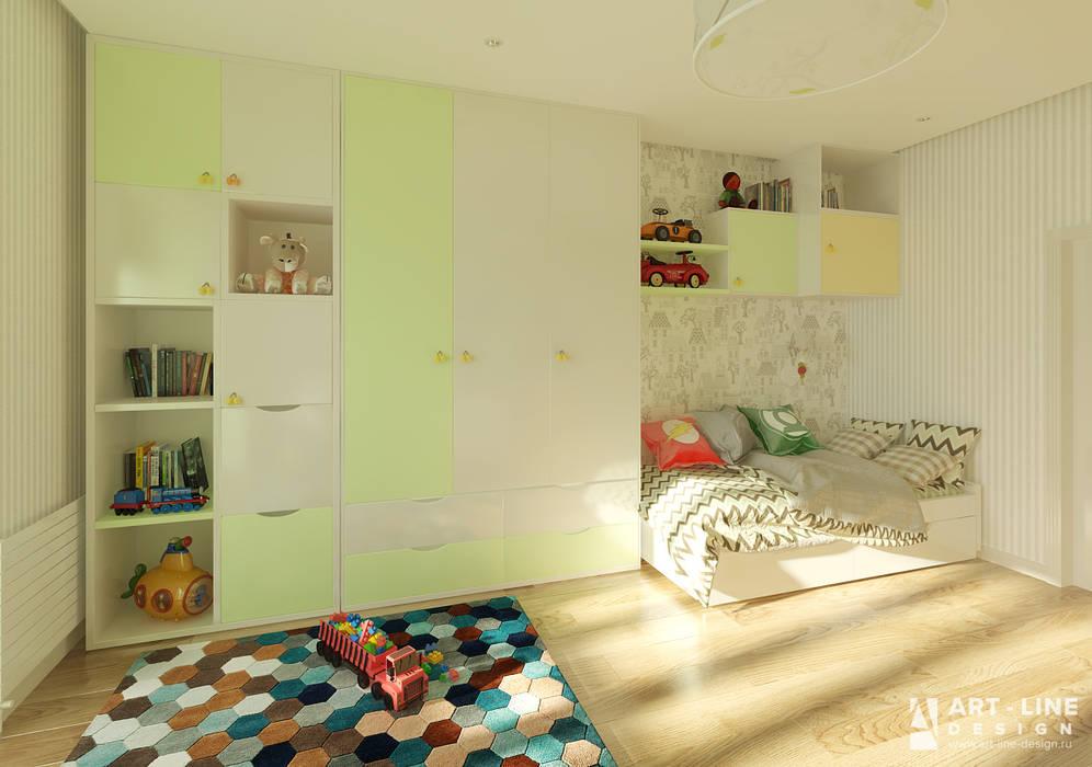 Art-line Design Спальня хлопчиків Зелений