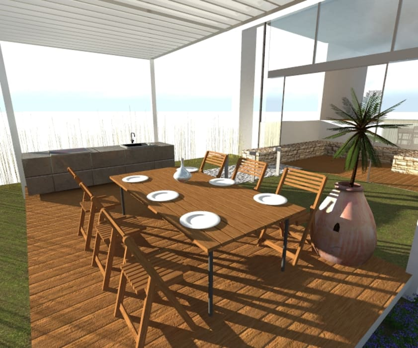 by Designo Arquitectos Minimalist Iron/Steel
