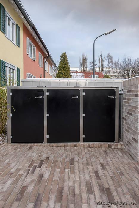 Mülltonnenbox @boxx in München von design@garten - Alfred Hart - Design Gartenhaus und Balkonschraenke aus Augsburg Modern Holz-Kunststoff-Verbund
