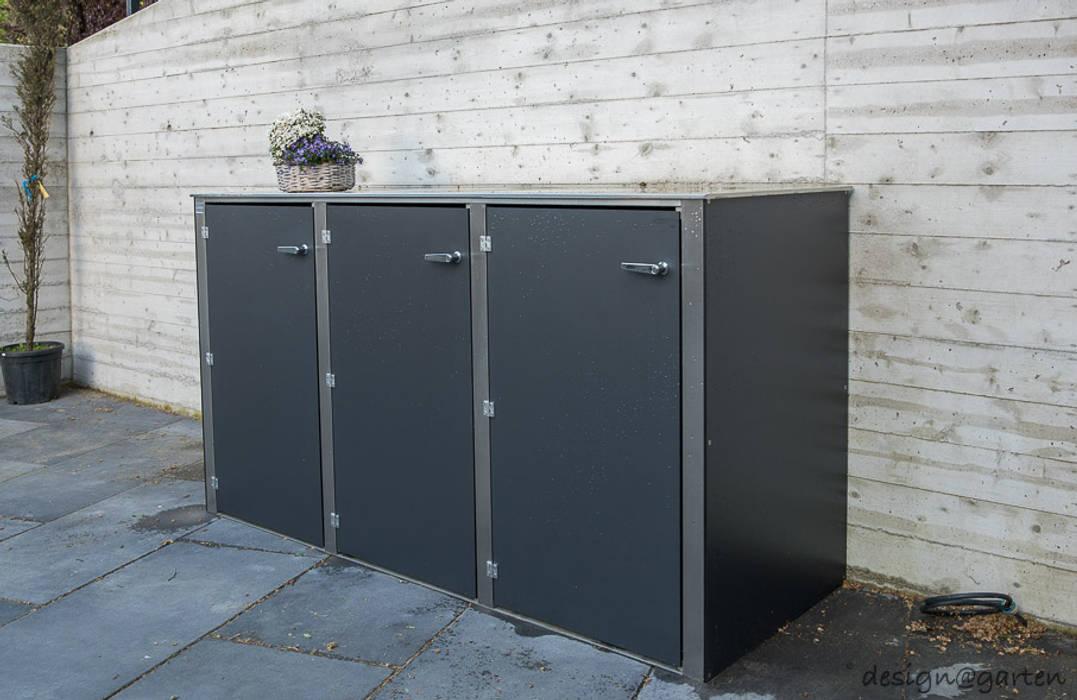 Mülltonnenbox @boxx in Königstein von design@garten - Alfred Hart - Design Gartenhaus und Balkonschraenke aus Augsburg Modern Holz-Kunststoff-Verbund