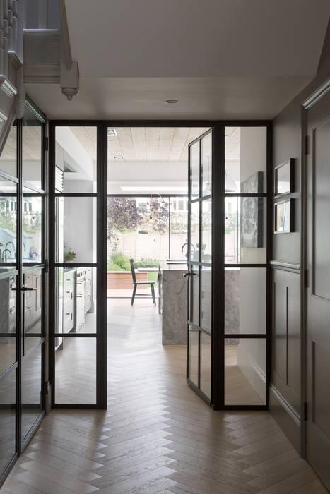 Hallway Modern windows & doors by Shape London Modern