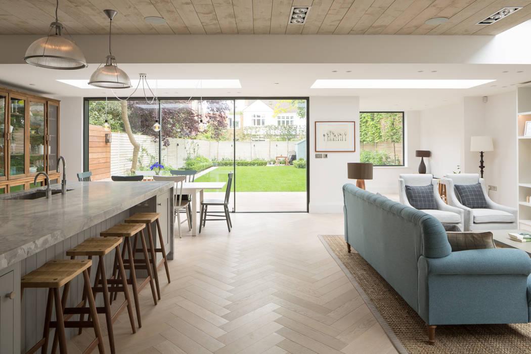 Living/Kitchen Shape London Modern Living Room