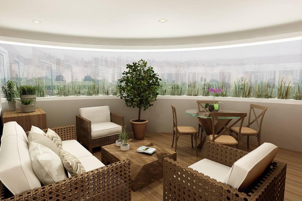 Balcón de estilo  por Liliana Zenaro Interiores, Clásico