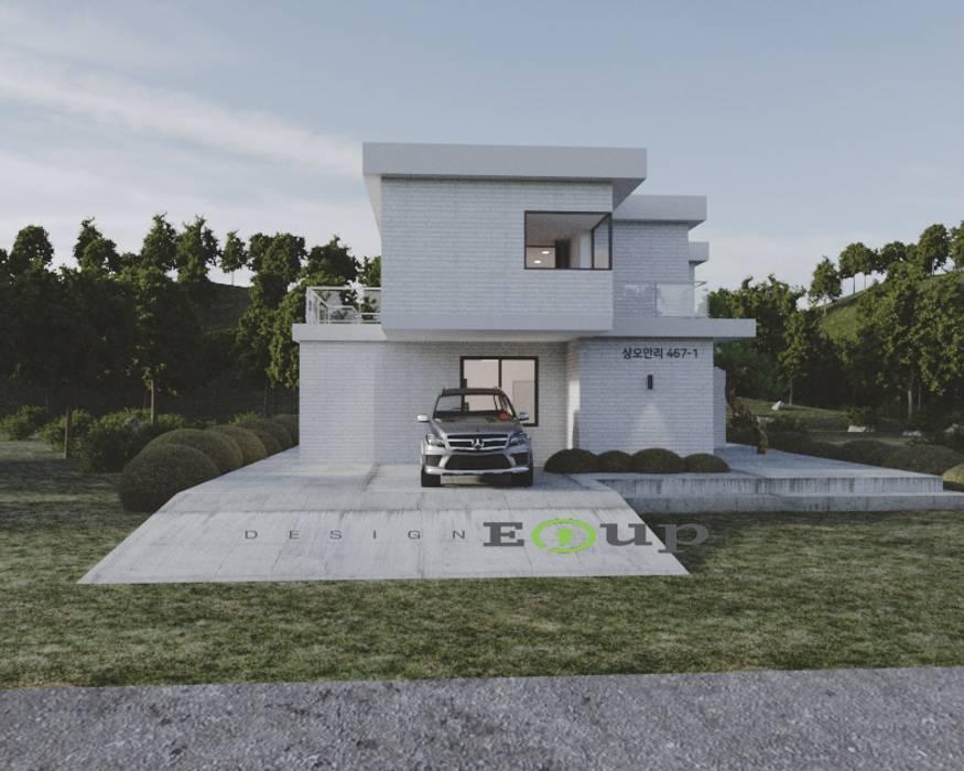 강원도 홍천읍 전원주택 좌측면도: 디자인 이업의  전원 주택