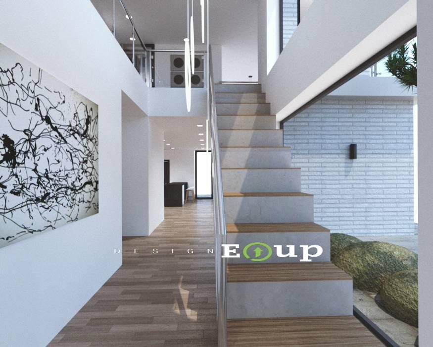 강원도 홍천읍 전원주택 계단: 디자인 이업의  계단