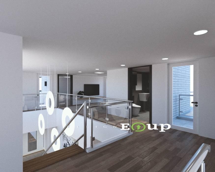 강원도 홍천읍 전원주택 계단 및 복도: 디자인 이업의  계단
