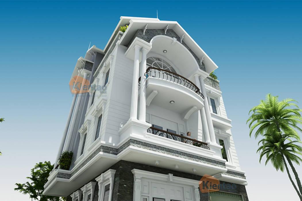 Mẫu thiết kế biệt thự lô góc 4 tầng diện tích 8.5×9.7m:  Biệt thự by CÔNG TY CỔ PHẦN XD&TM KIẾN TẠO VIỆT