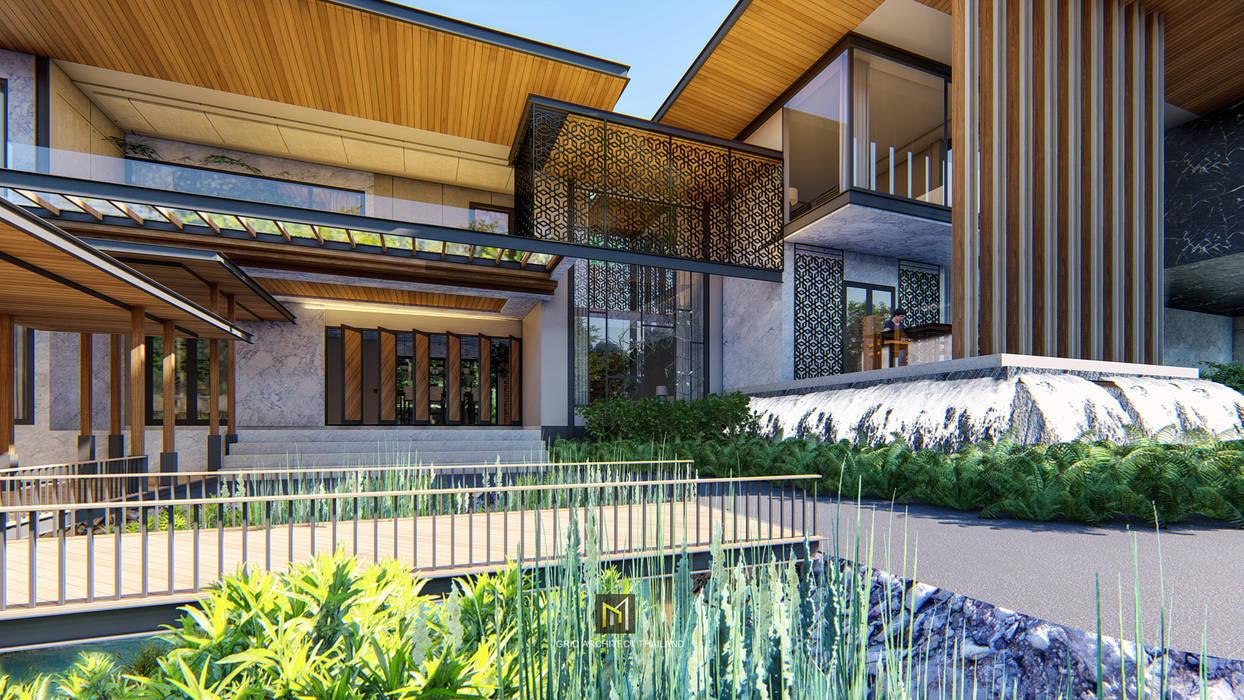 Casas unifamilares de estilo  de GRID ARCHITECT THAILAND