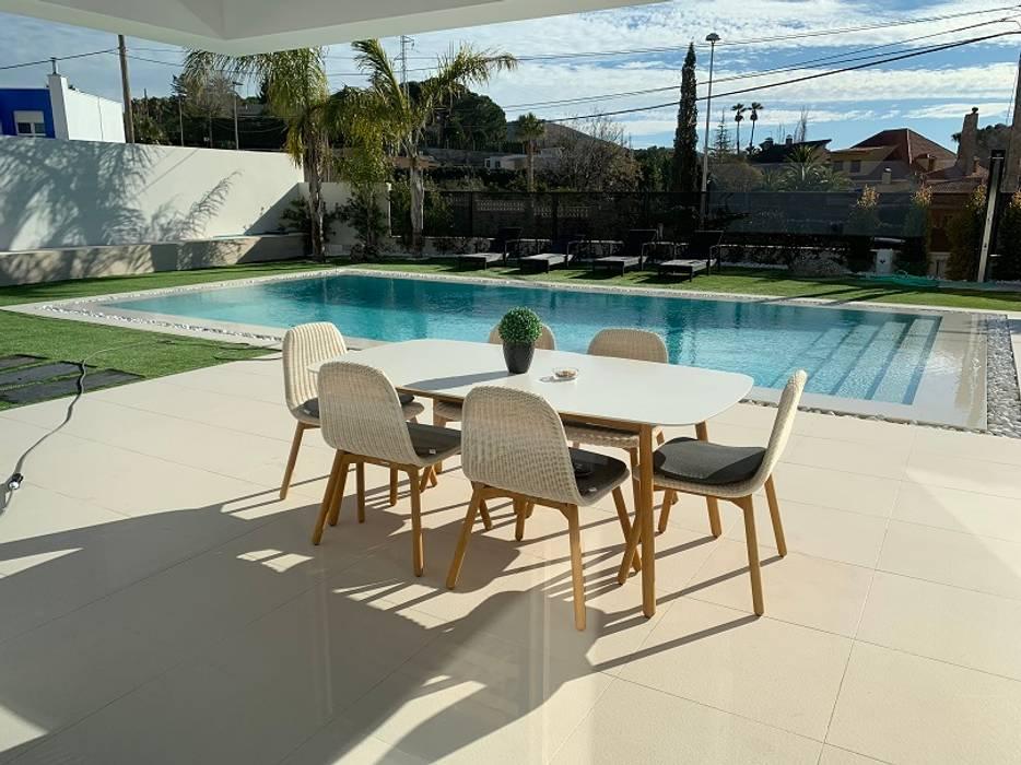 Piscina terraza Piscinas de estilo mediterráneo de Promed Mediterráneo