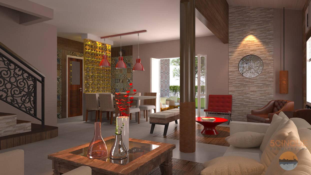 Salas / recibidores de estilo  por 5CINQUE ARQUITETURA LTDA, Moderno