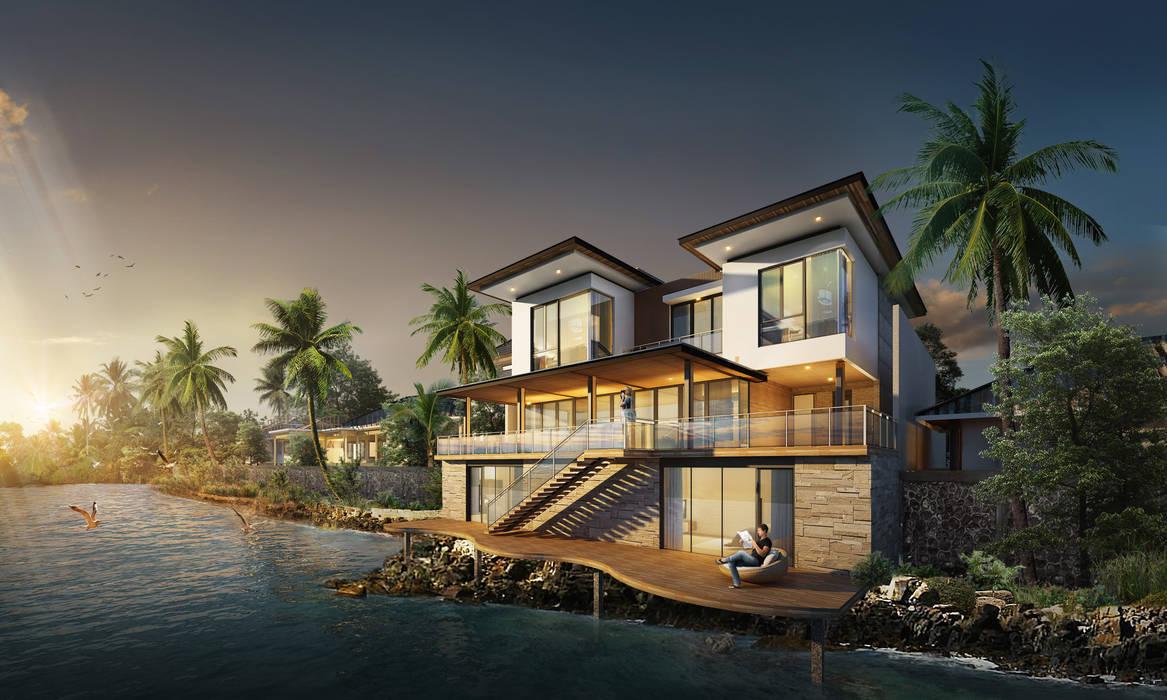 Casas de estilo  por Baskara Design and Planning, Tropical