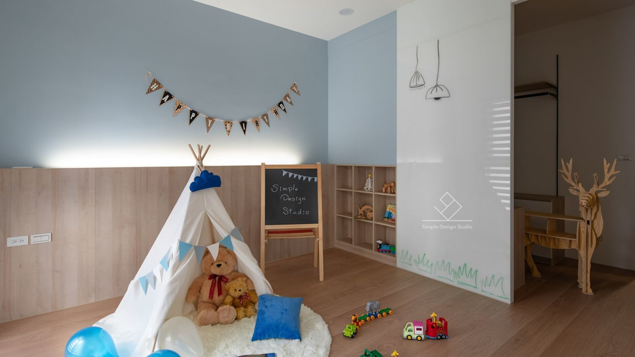 遊戲間:  嬰兒房/兒童房 by 極簡室內設計 Simple Design Studio