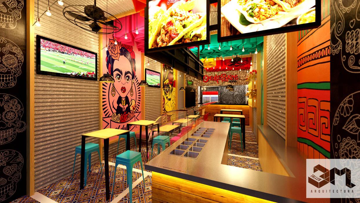 """Imagen interior Restaurante """"Oraleparce"""" /Ibagué - Tolima de Taller 3M Arquitectura & Construcción Ecléctico Cerámico"""