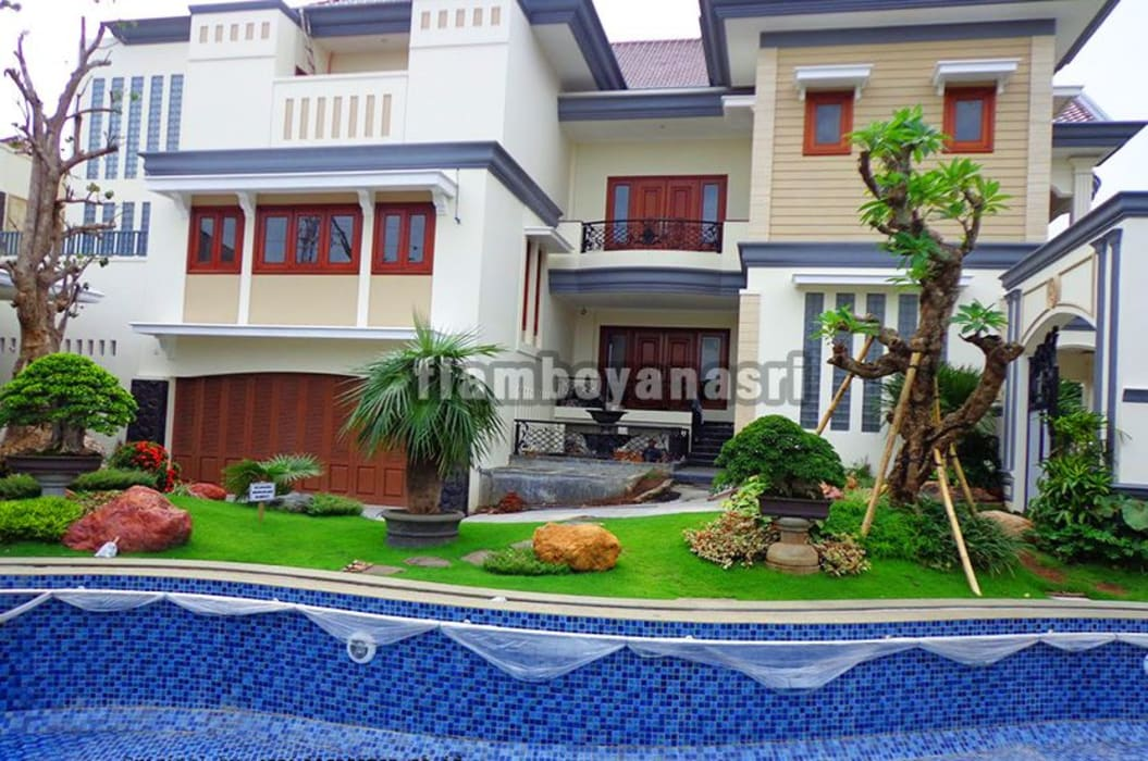 Tukang Taman Surabaya - Desain taman Kolam Renang: Taman oleh Tukang Taman Surabaya - flamboyanasri, Modern