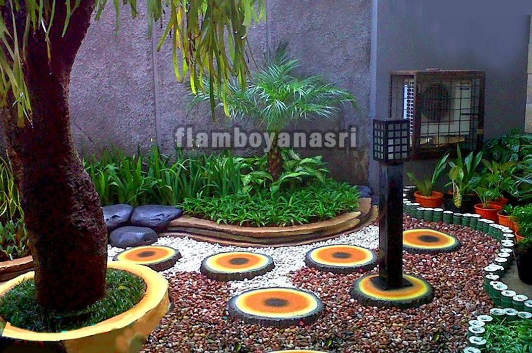 Tukang Taman Surabaya - Desain taman Kering:  Halaman depan by Tukang Taman Surabaya - flamboyanasri