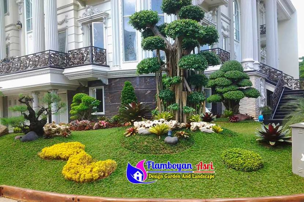 Tukang taman surabaya - Desain Taman Mewah Luas Oleh Tukang Taman Surabaya - flamboyanasri Modern