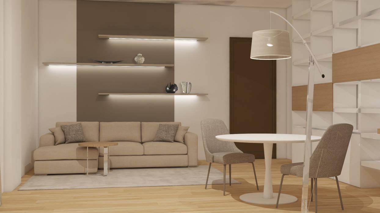 Soggiorno/angolo divano : Soggiorno in stile  di Silvana Barbato, StudioAtelier