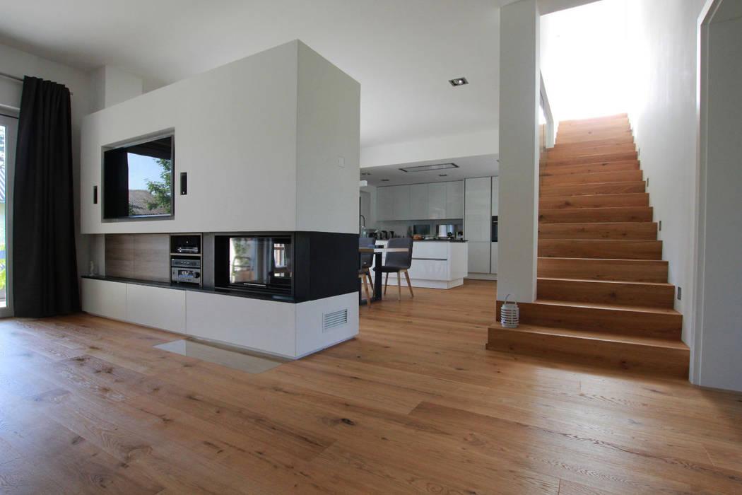Feuerstelle Treppe Moderne Wohnzimmer Von Archipur Architekten Aus Wien Modern Homify