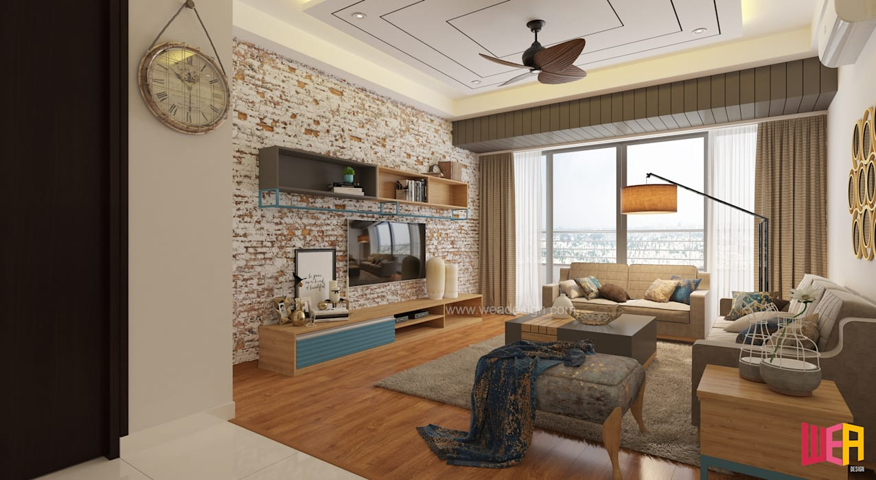 The Promont (Tata Housing) :  Living room by Wea Design