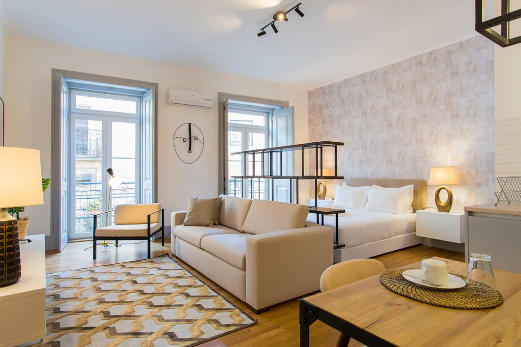 Open space - Polais, Lisboa II Traço Magenta - Design de Interiores Sala de estarAcessórios e Decoração
