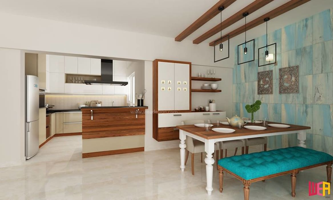 SOBHA PROJECT:  Dining room by Wea Design,Modern Plywood