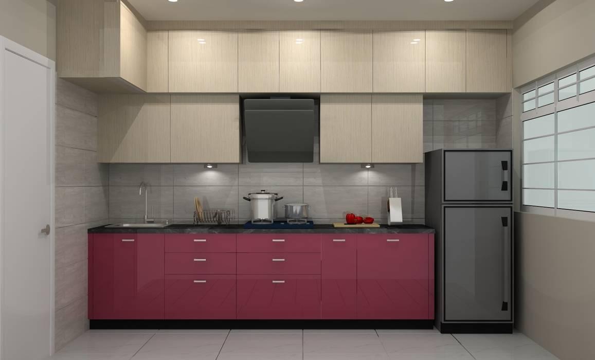 Kitchen by Golden Spiral Productionz (p) ltd,