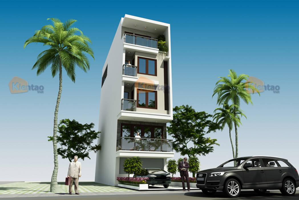 Thiết kế nhà phố 5 tầng đẹp 4,8x14m ở Cao Bằng – NP 135:  Biệt thự by CÔNG TY CỔ PHẦN XD&TM KIẾN TẠO VIỆT
