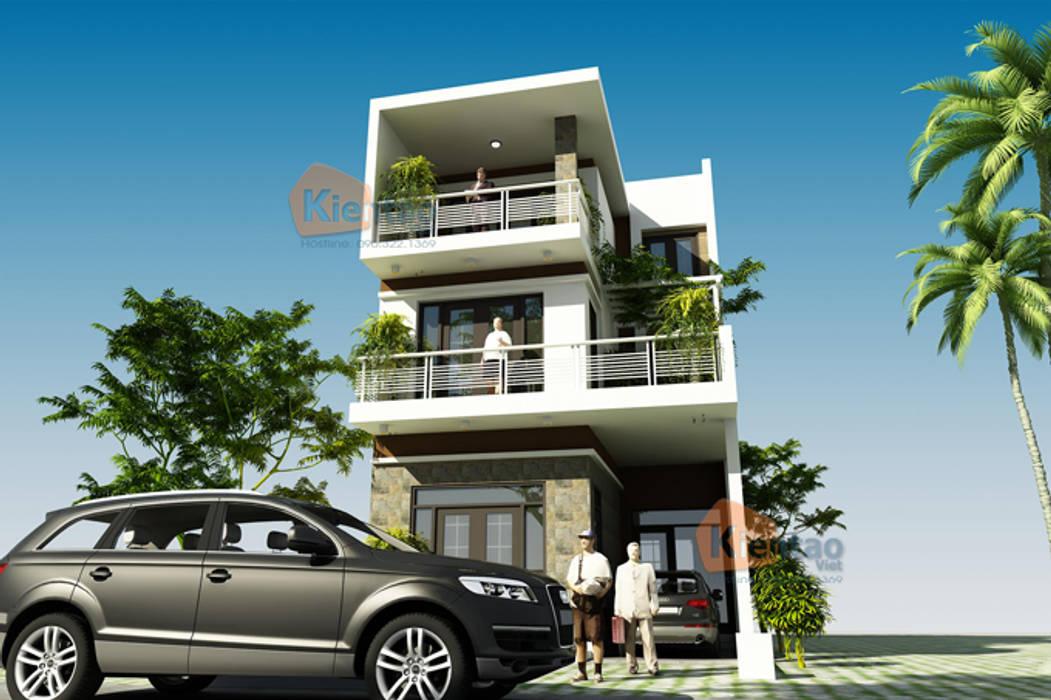 Biệt thự phố hiện đại 3 tầng ban công ấn tượng tại Hương Yên – BT 100:  Biệt thự by CÔNG TY CỔ PHẦN XD&TM KIẾN TẠO VIỆT