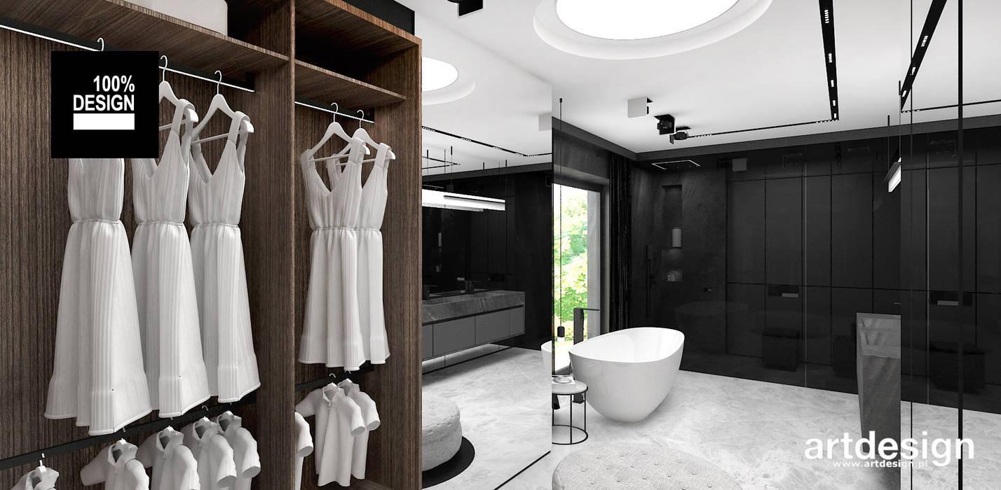 Nowoczesna łazienka Z Garderobą Styl W Kategorii łazienka