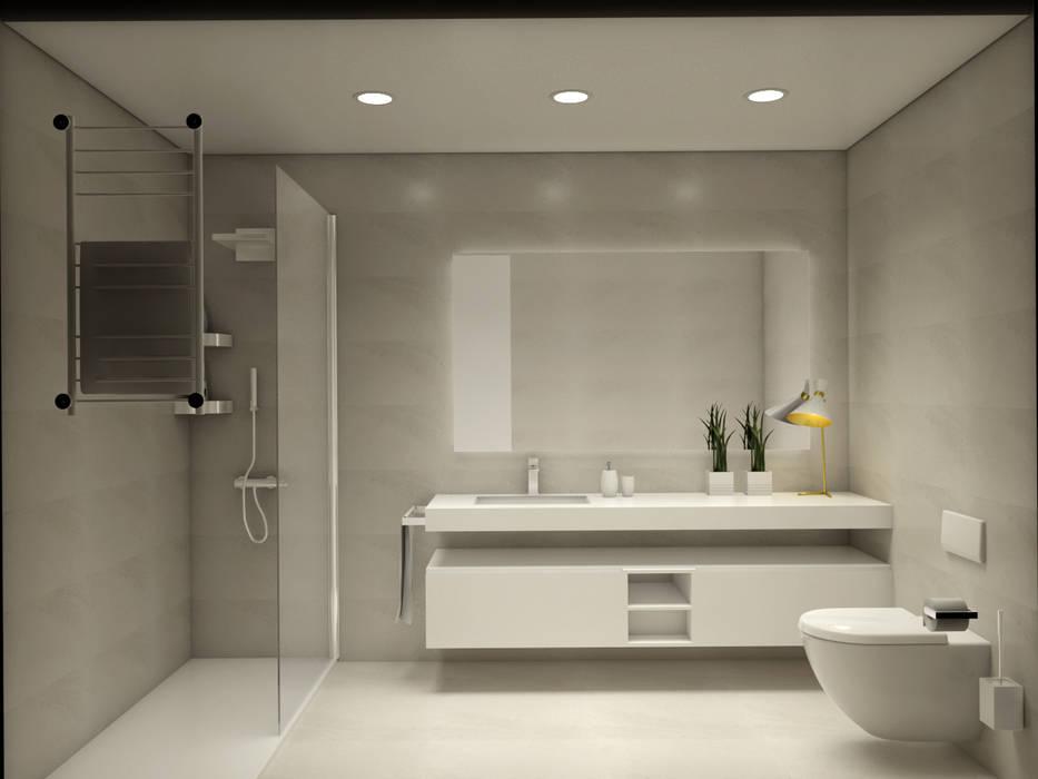 Renovação de casa de banho: Casas de banho  por Glim - Design de Interiores