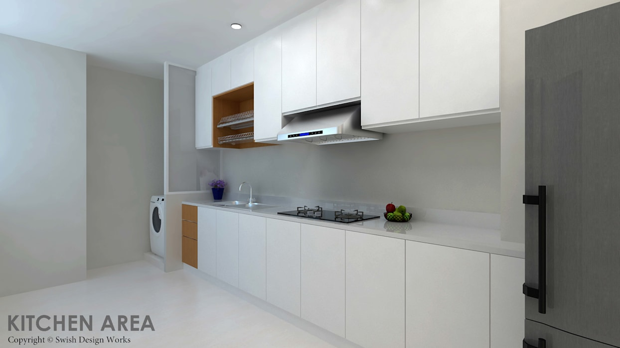 Ang Mo Kio Ave 10:  Built-in kitchens by Swish Design Works,