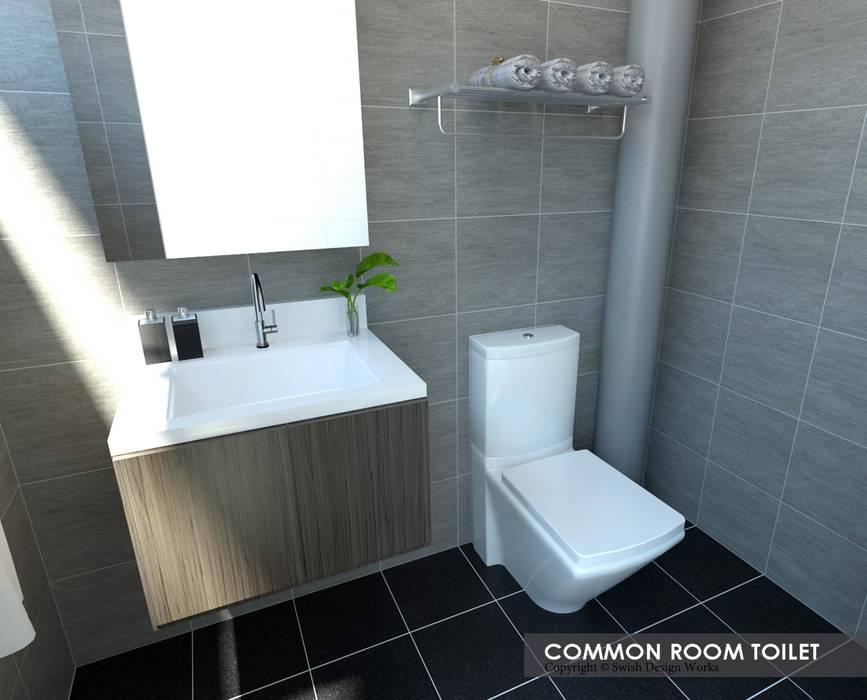 Serangoon Central:  Bathroom by Swish Design Works