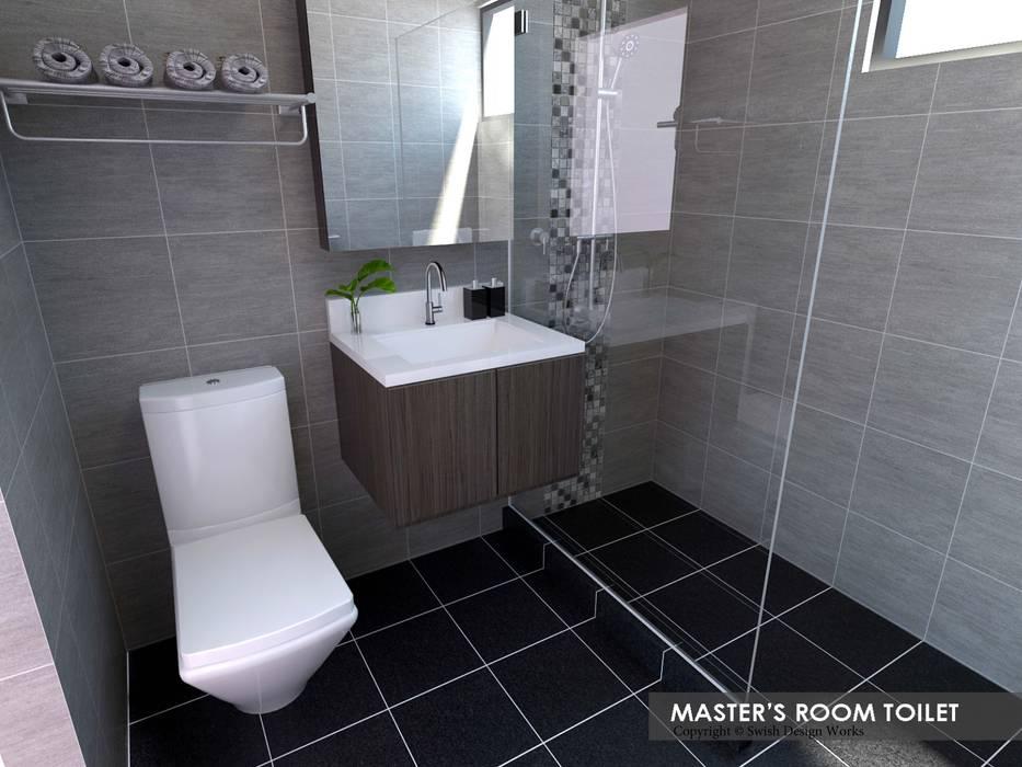 Serangoon Central Asian style bathroom by Swish Design Works Asian