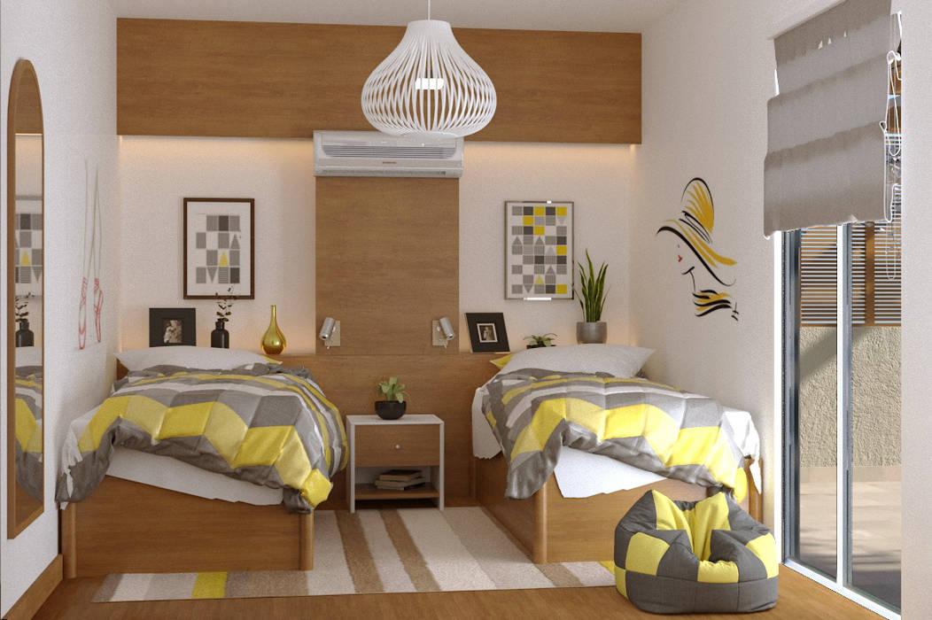 ห้องนอนเด็กหญิง โดย AmiraNayelDesigns, โมเดิร์น