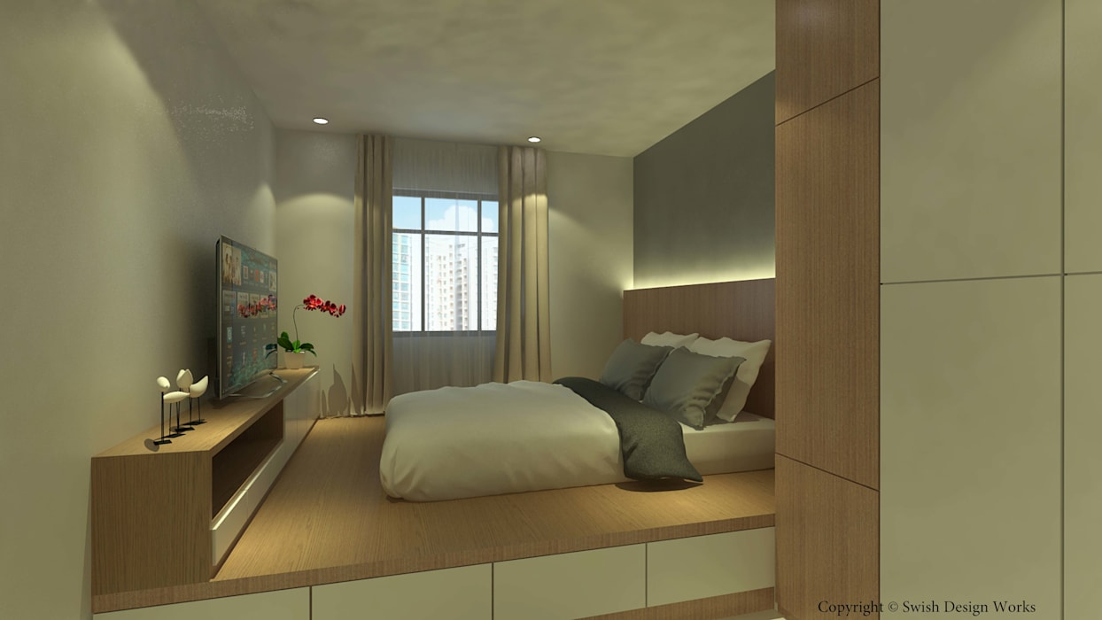 Canberra Crescent Minimalist bedroom by Swish Design Works Minimalist