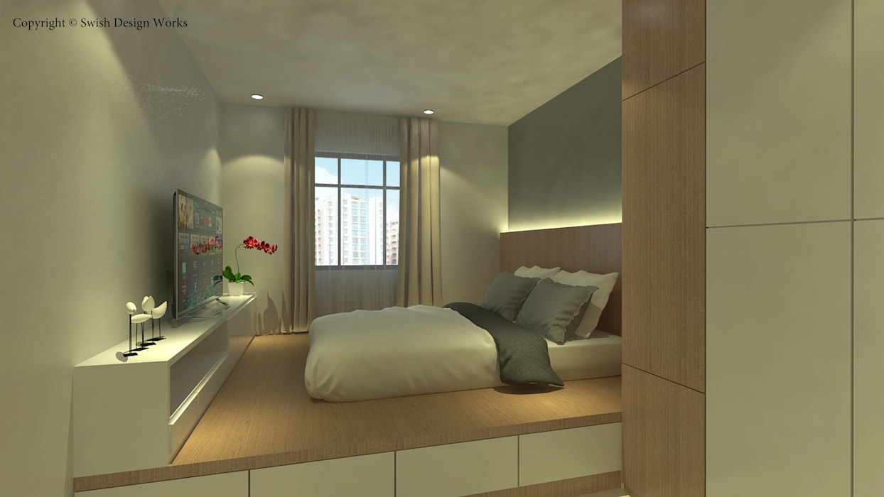 Small bedroom by Swish Design Works,