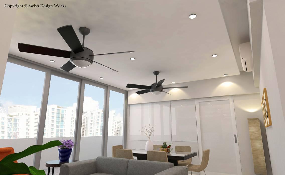Sennett Residence Scandinavian style dining room by Swish Design Works Scandinavian