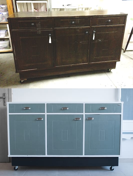 Revì Art - Upcycling Furniture Design Living roomCupboards & sideboards Kayu White