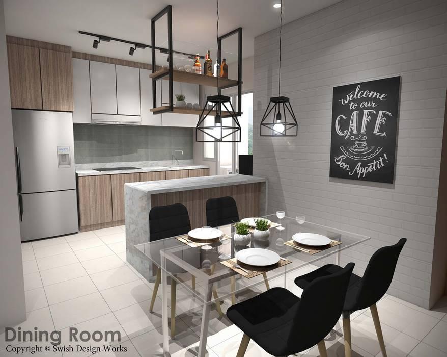 Yishun Ave 6 Scandinavian style dining room by Swish Design Works Scandinavian