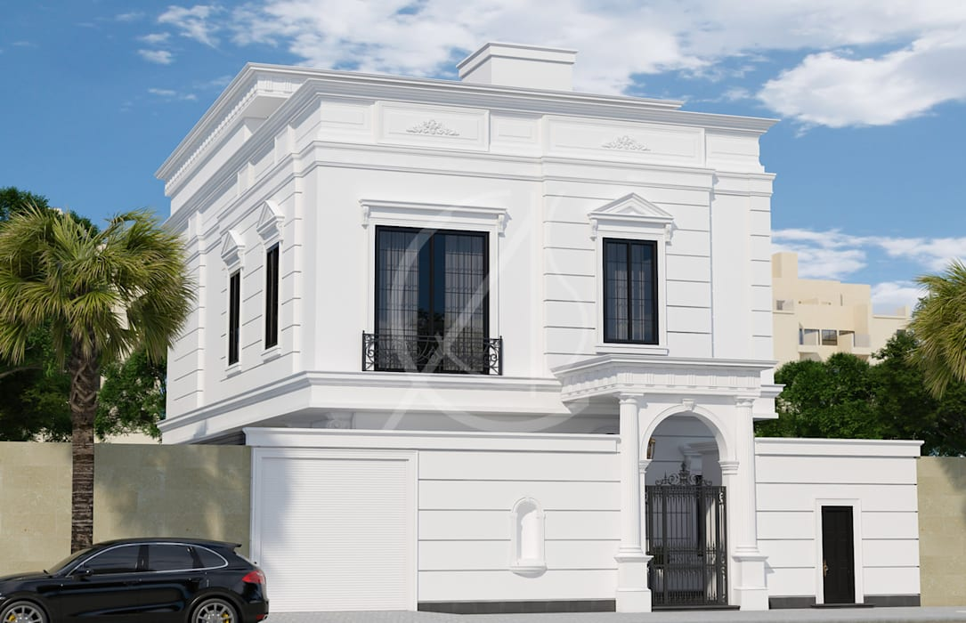 Neoclassical Saudi Arabian House Design:  Houses by Comelite Architecture, Structure and Interior Design , Classic